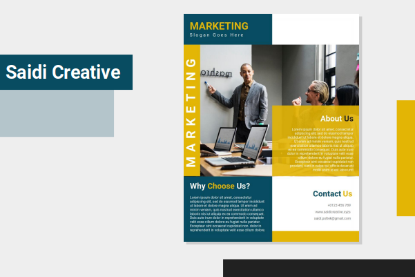 Marketing Business Flyer Template Design on MS. Word File Fully Editable