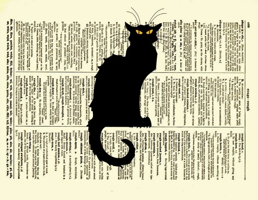 07-Le-Chat-Noir-Belle-Old-Books-and-Dictionaries-in-Re-Imagination-Prints-www-designstack-co