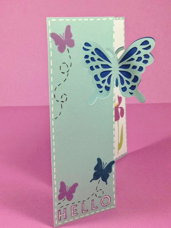 Close To My Heart Artfully Sent Butterfly Swing Card sideview