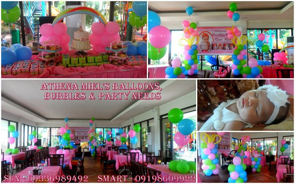 Christening baptismal dedication and baby shower balloon for Balloon decoration packages manila
