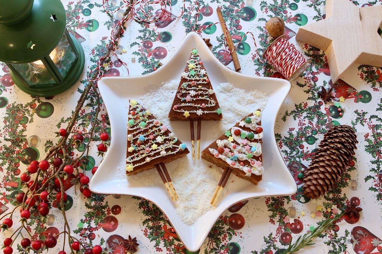 Weihnachtsbrownie Bäumchen