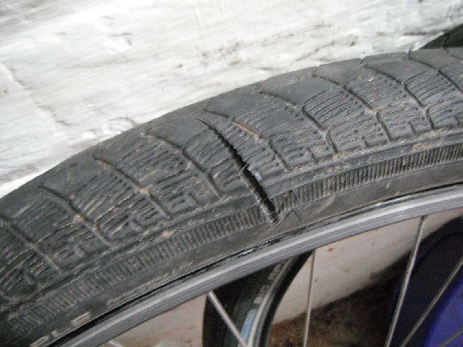 Tire Patch Cost >> dorkythorpy: Bike Tire Torn Sidewall Repair