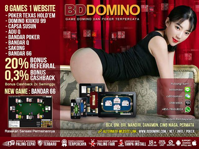Image of Bonus Cashback Judi Bandar66 Online BDdomino.info