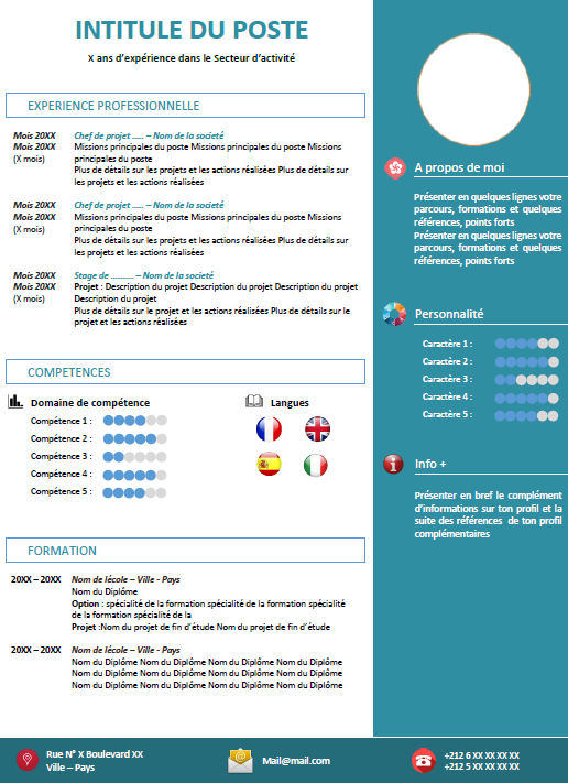 exemple cv pour master specialise