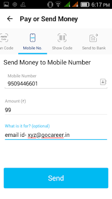 Paytm how to send money