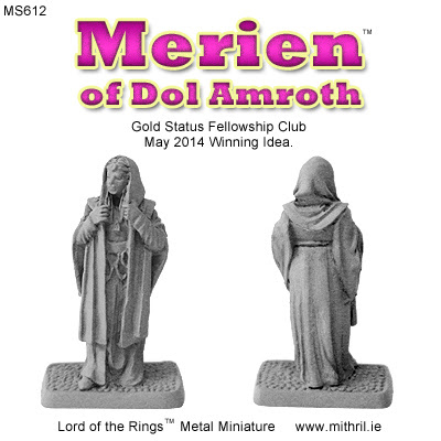 MS612 Merien of Dol Amroth figures.