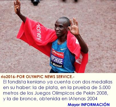 Maratón de Río 2016: Eliud Kipchoge va tras la medalla de oro para completar el trío olímpico