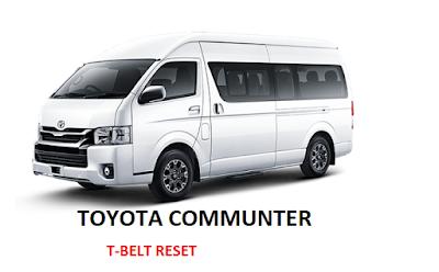 Toyota Commuter T-belt Warning Light Reset