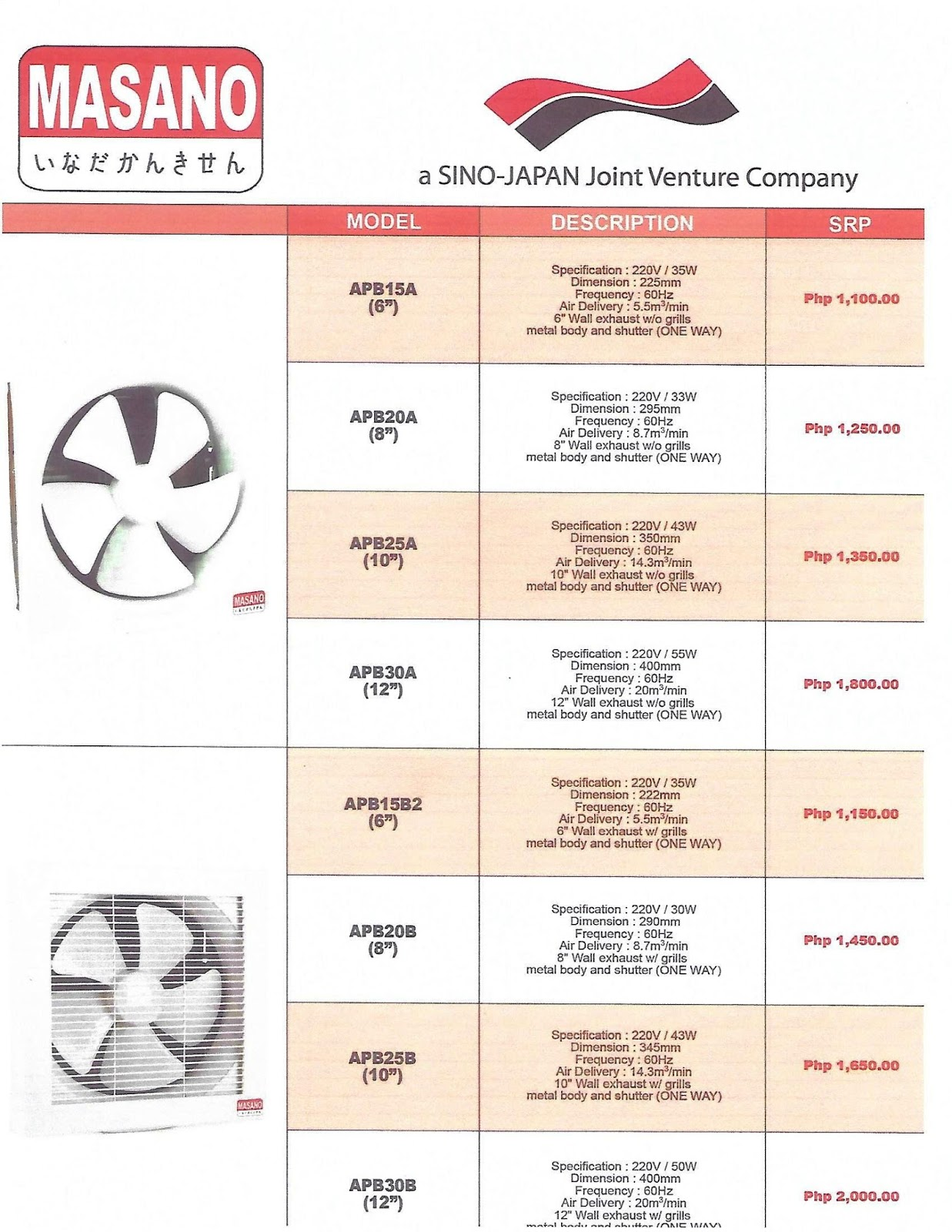 Maximax Systems Masano Exhaust Fans