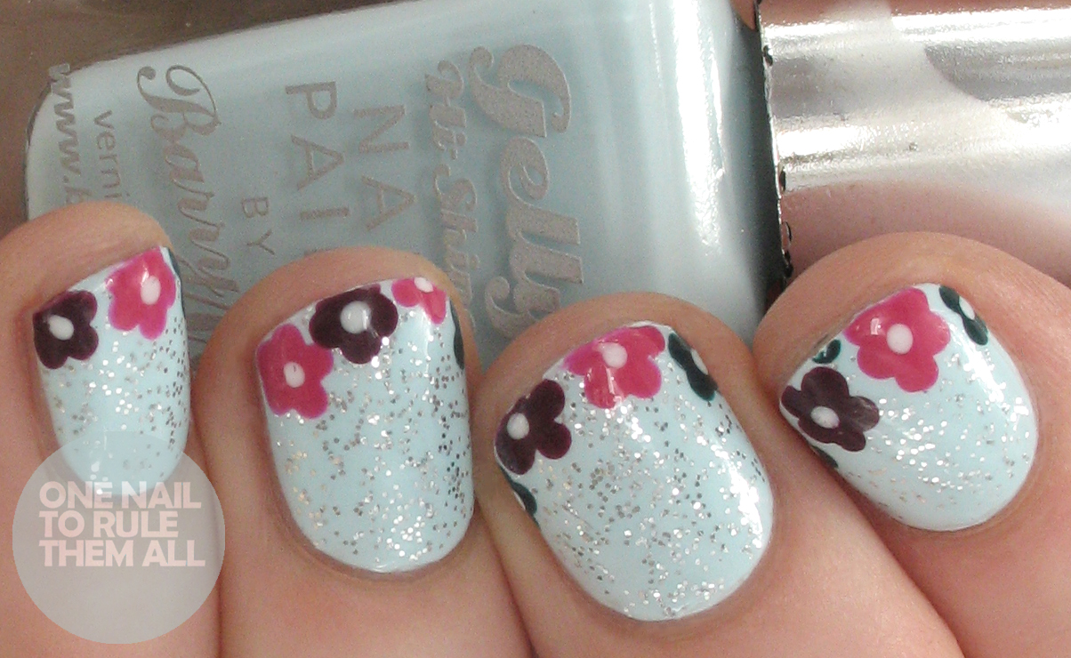 One Nail To Rule Them All: Detailed Gelish Florals