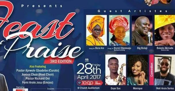cac oke ayo feast of praise live 2017