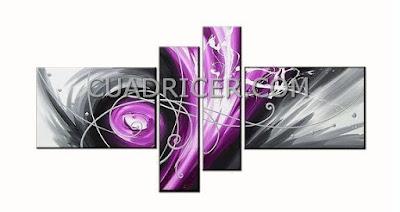 http://www.cuadricer.com/cuadros-pintados-a-mano-por-temas/cuadros-abstractos/cuadros-huracan-gris-morado-moderno-1738.html