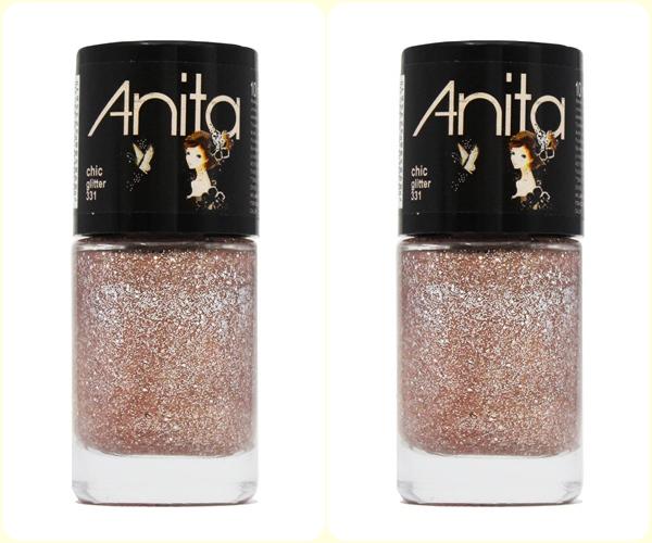 Esmalte top Anita Chic Glitter 6 tons de nude
