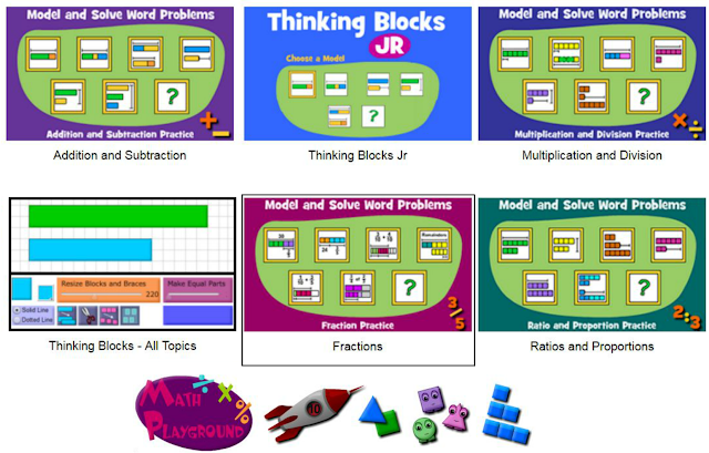 "Modelos interactivos ""Thinking Blocks"", de Math Playground"