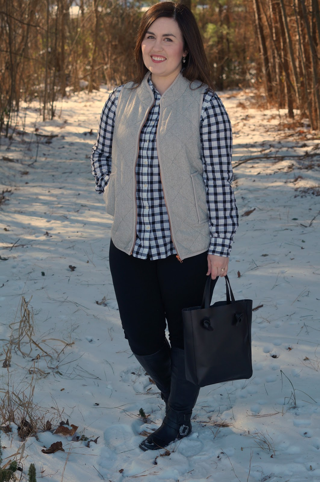 North Carolina style blogger shares a casual winter look.  Read more here!