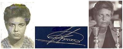 Fotos de Pepita Ferrer y su firma