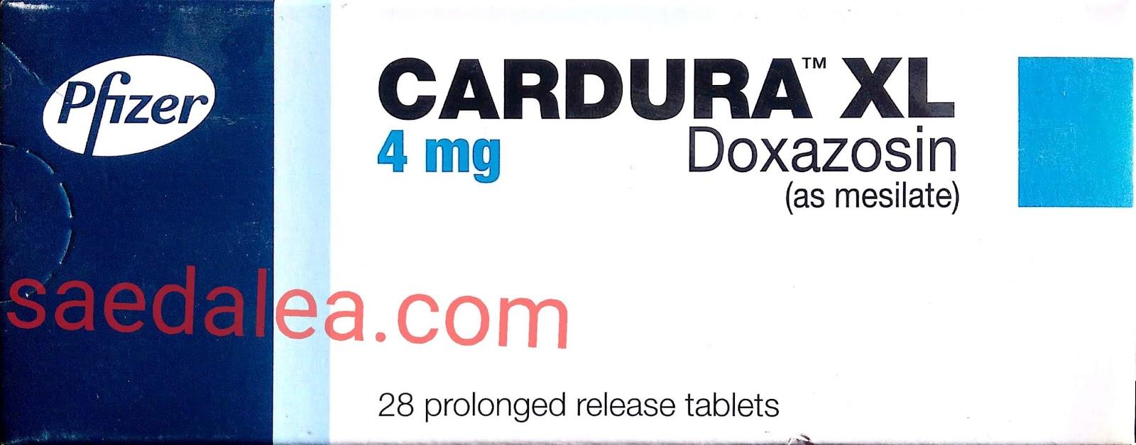 کاردور إكس إل لعلاج ارتفاع ضغط الدم ولتضخم البروستاتا   CARDURA XL  tablets