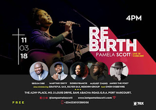 UPCOMING: REBIRTH | PAMELA SCOTT LIVE IN CONCERT