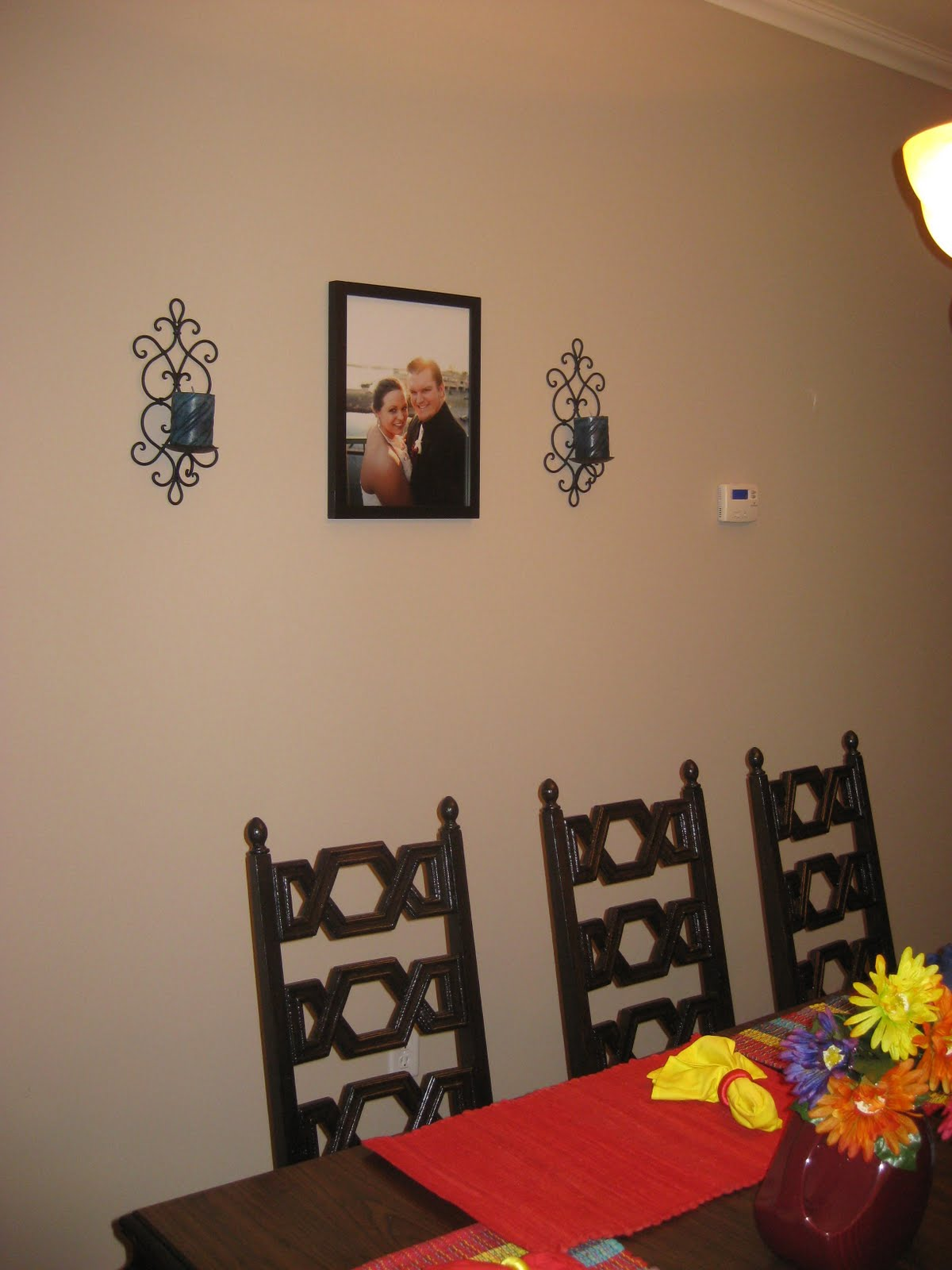 Behind the other side are my Fiesta canvases.