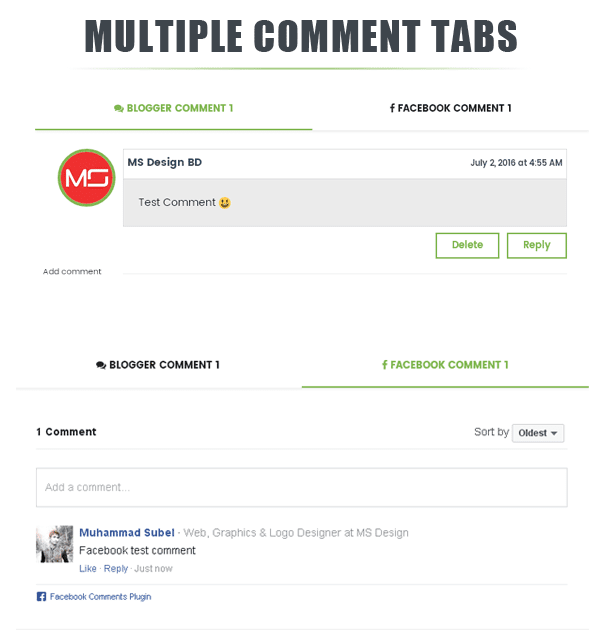 True Mag Multiple Comments tab