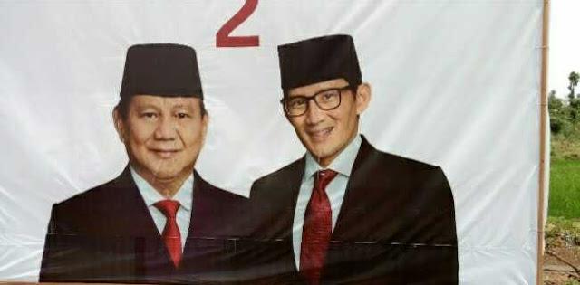 APK Prabowo-Sandi Dirusak, Dugaannya Buat Bikin Ciut Nyali Relawan