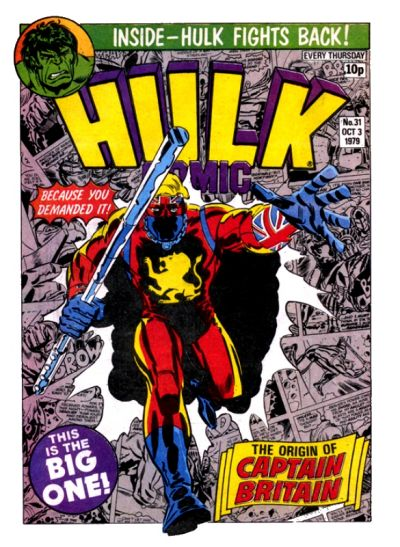 Marvel UK, Hulk #31, Captain Britain