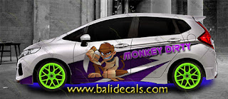 cutting sticker honda jazz rs bali