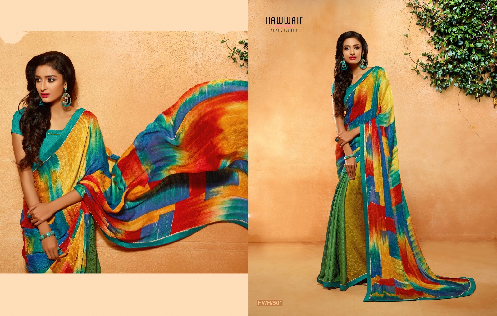 Hawwah – Printed Saree With Lace Border
