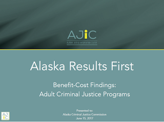 Alaska Results First — Benefit-Cost Findings: Adult Criminal Justice Programs