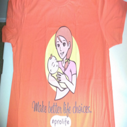 pro-life t-shirt by Noeclexis - prolife
