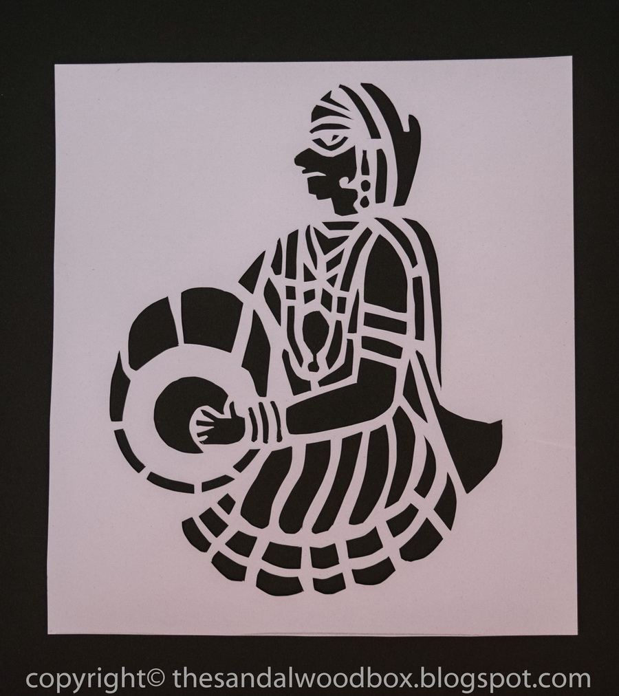 The Sandalwood Box Sanjhi Art