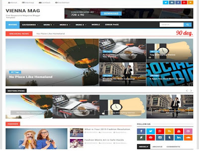 Vienna Mag Blogger Template