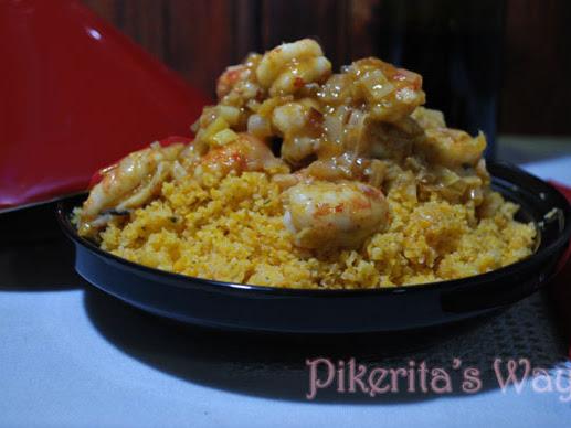 Cous cous #singluten con langostinos al curry