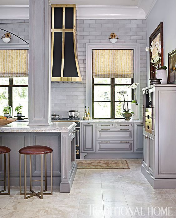 Distressed Kitchen Pantry Chalk Paint