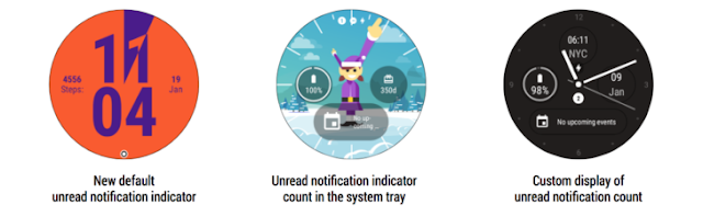 Unread notification indicator count will be added to Android wear v2.9