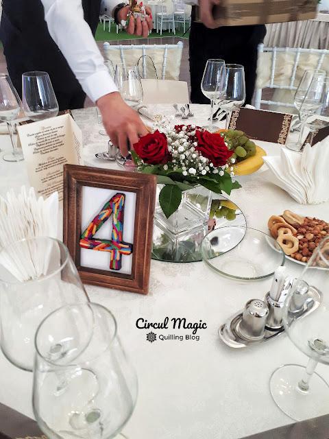 Pentru inchiriat: Numere pentru Petrecerea de Nunta realizate Manual, din Hartie, in tehnica Quilling