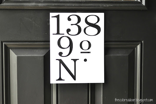 Painted Address Numbers