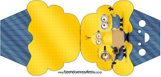 Tarjeta con forma de cupcake de Película de los Minions