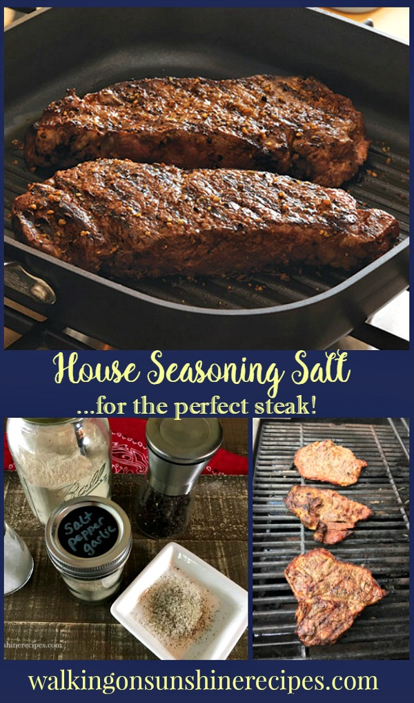 How to make the best steak seasoning for the perfect grilled steak from Walking on Sunshine.