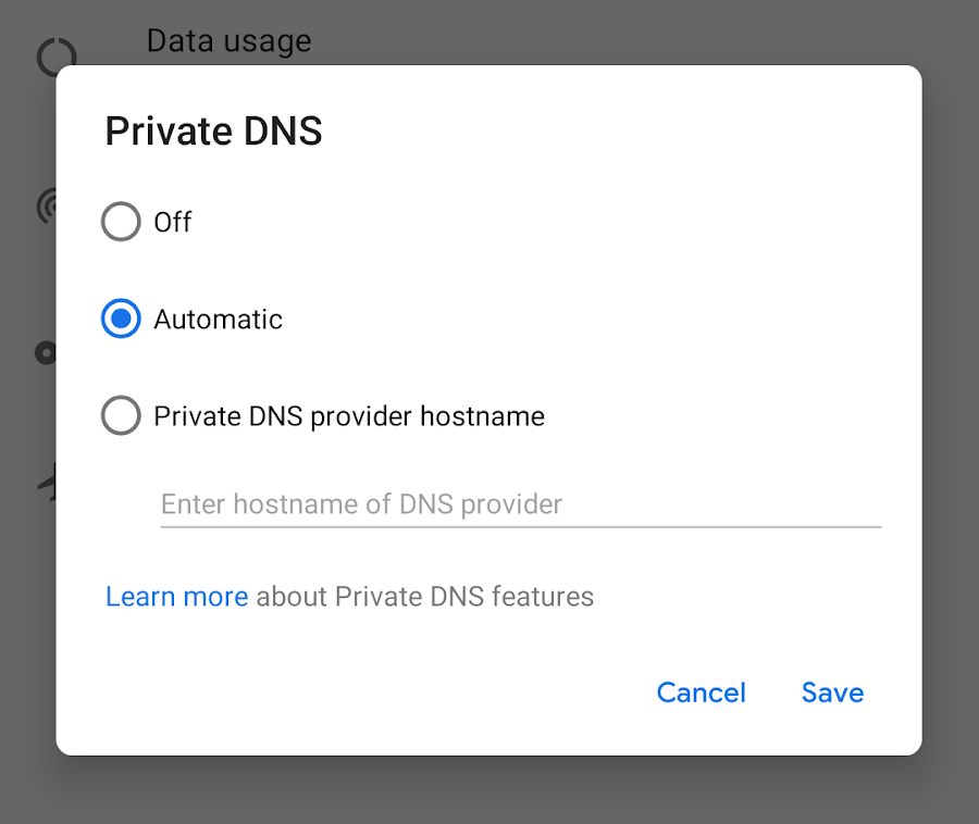 Android Developers Blog: DNS over TLS support in Android P Developer