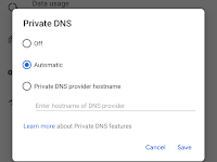 DNS over TLS support in Android P Developer Preview