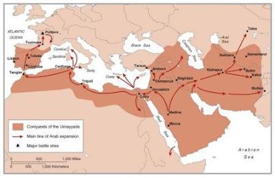 peta wilayah kekuasaan bani Umayyah