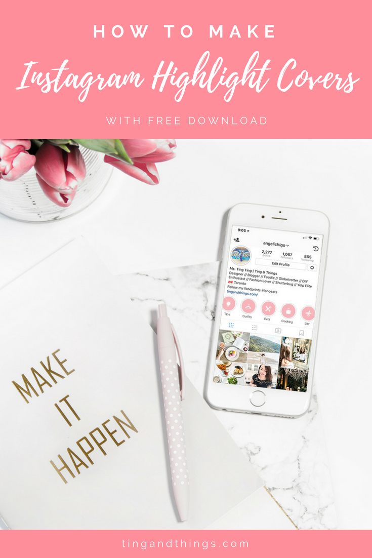 How to Make Your Instagram Highlight Covers Like a Pro {Tutorial} | via tingandthings.com
