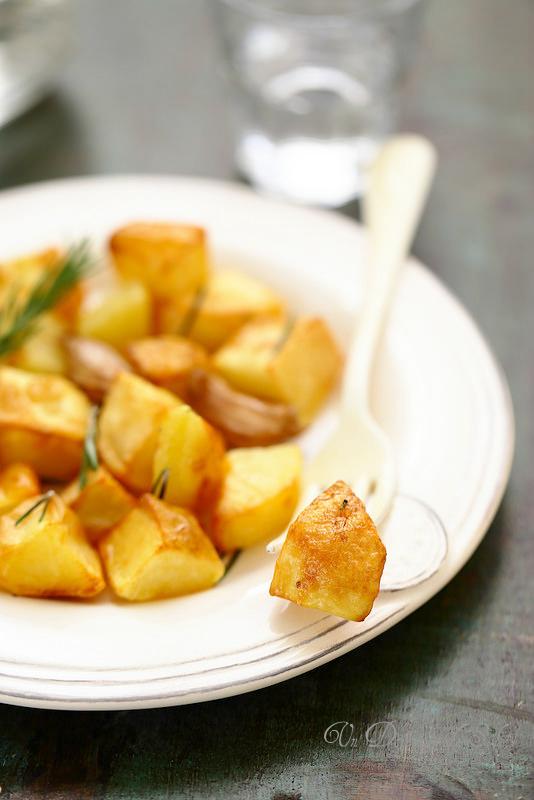 Vingt cinq recettes d'accompagnements ou salades pour les fêtes (pommes de terre rôties)