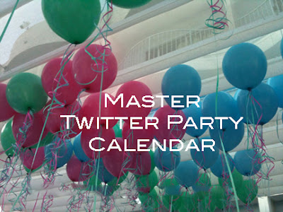 Twitter Party Calendar with Prizes