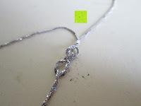 Verschluss: Morella® Damen Halskette Herz Buchstabe I 925 Silber rhodiniert mit Zirkoniasteinen weiß 46 cm
