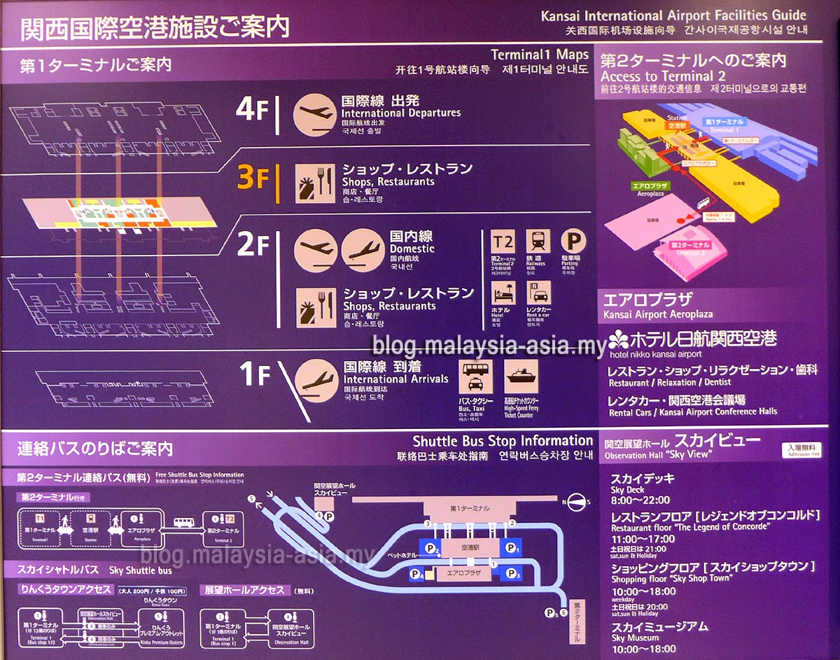 Kansai Airport Layout Map