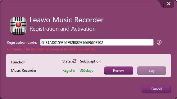 Leawo Music Recorder Full Registration Code