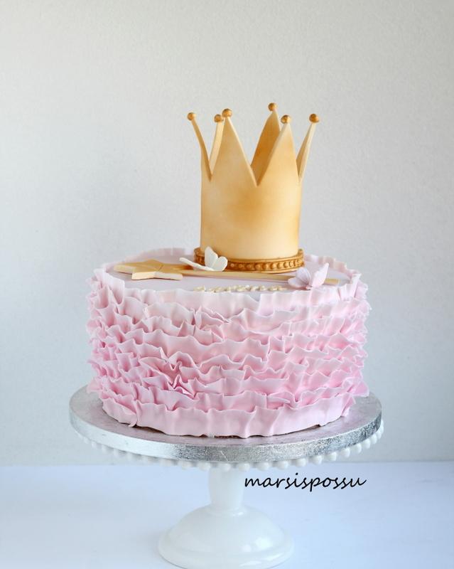 Prinsessakakku 4-vuotissynttäreille