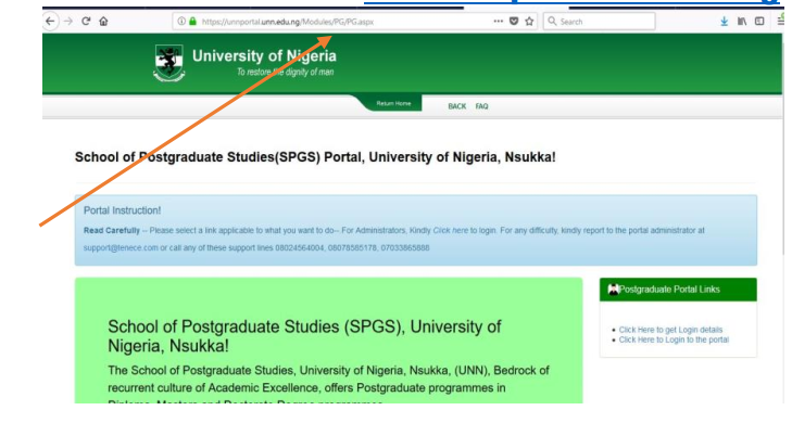 unn pg students portal login